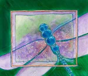 Dragonfly watercolor by Sheila Stephens, Sherwood, Oregon.